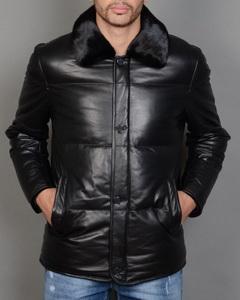 Зимние мужские кожаные куртки и пуховики Кожаные мужские куртки