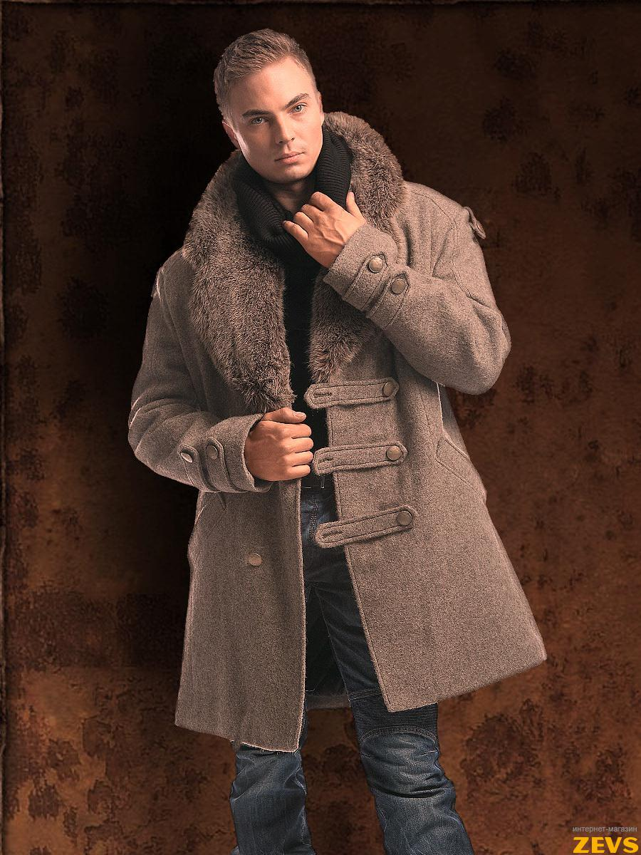 С мехом купить мужское зимнее пальто