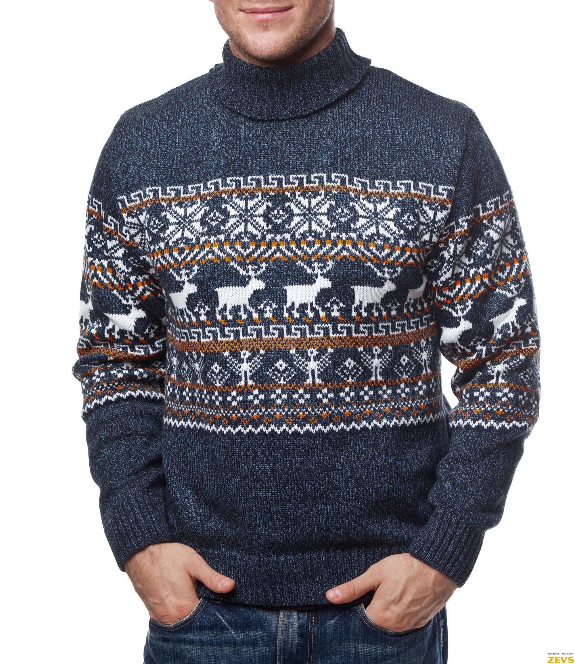вязаные свитера схема с оленями
