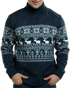 88662efc8a350 Мужской свитер с оленями, новогодний, красный купить в интернет ...